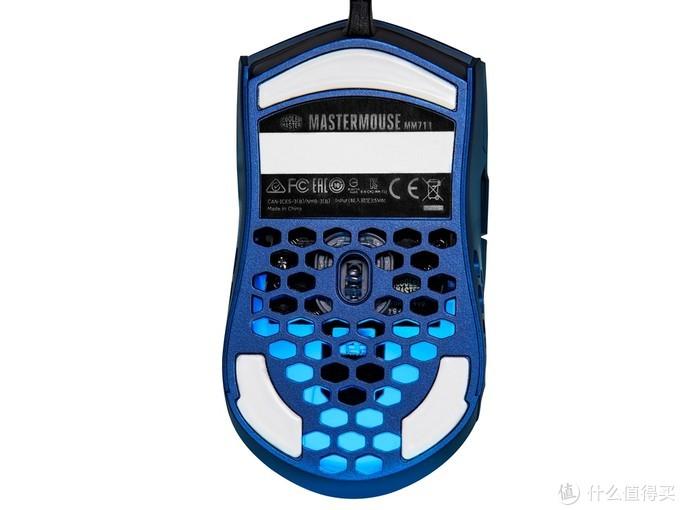 全新配色、60克超轻设计:酷冷至尊 推出MM711金属蓝特别版游戏鼠标