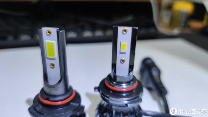 灯珠特写,33的发光面积大些,里面有24个小发光点,85的小一些,里面6个发光点,型号好像是3570