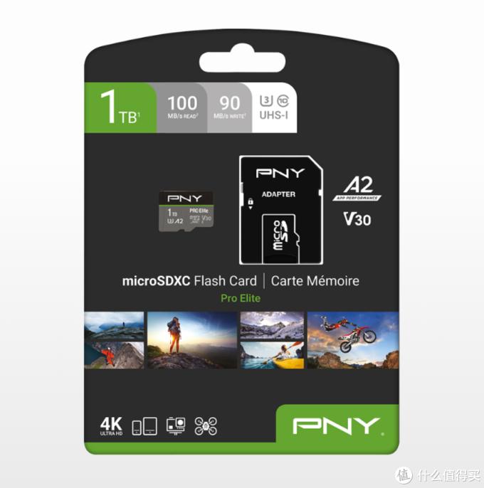 比主流级SSD容量还要大:PNY必恩威 发布1TB Pro Elite新款microSD存储卡