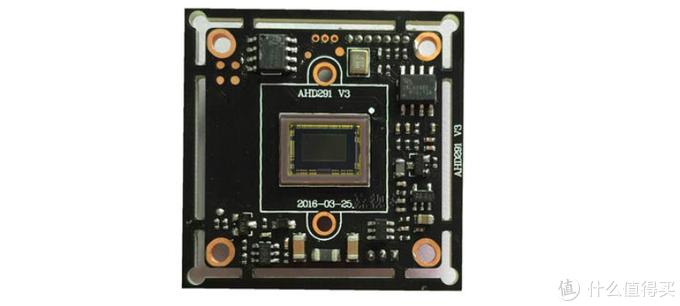 IMX291传感器模组,中间那个小长方形才是传感器本身。
