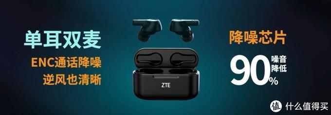 中兴发布LiveBuds TWS无线蓝牙耳机,双耳分离设计、逆风也清晰、总续航20小时