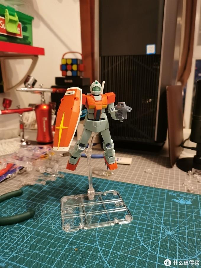 这一次还是吉姆,万代ROBOT魂RGM-79GM吉姆成品展示简测