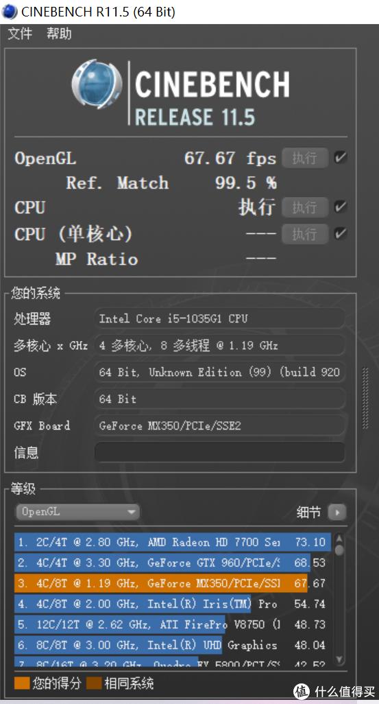 CINEBENCH R11.5 显卡