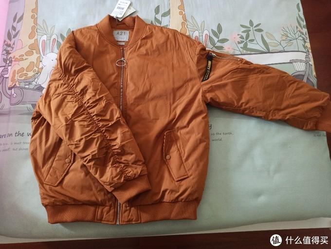 A21的0元购,卫衣和羽绒服
