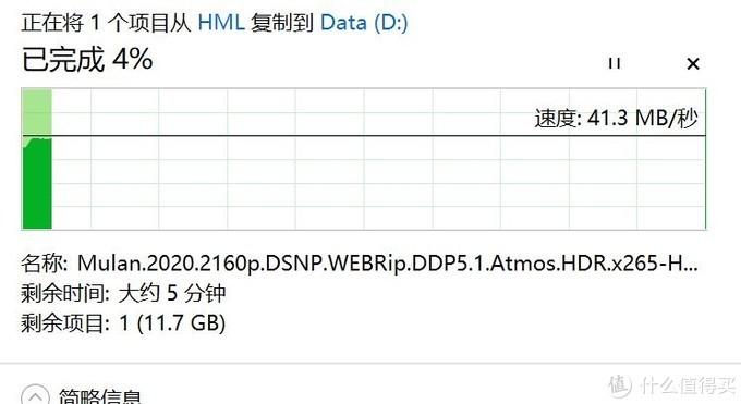 从我的移动硬盘上拷数据