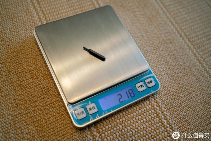 嘉诺精密的小号6角螺丝刀头净重:2.18克,二者相差0.04克,基本也可视为合理误差。