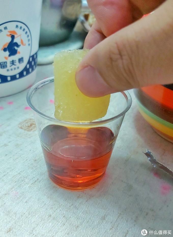 加入柠檬汁冰块