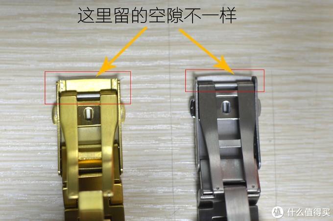 对了,对比小金块的改装表带,还有一点不一样,但是这点不影响使用,请忽略就好