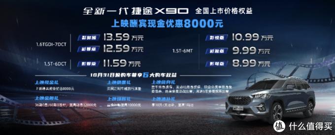8.99万起,全新一代捷途X90上市