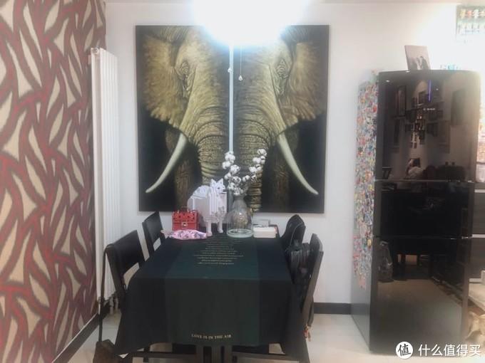 大象是两幅画 寓意吉祥