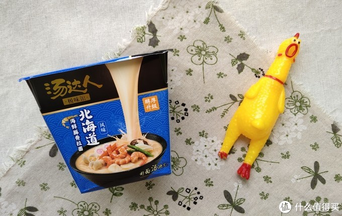 10块的汤达人.北海道海鲜豚骨拉面↑
