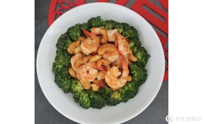 健康精致大菜:翡翠腰果虾球,一道菜三层味道