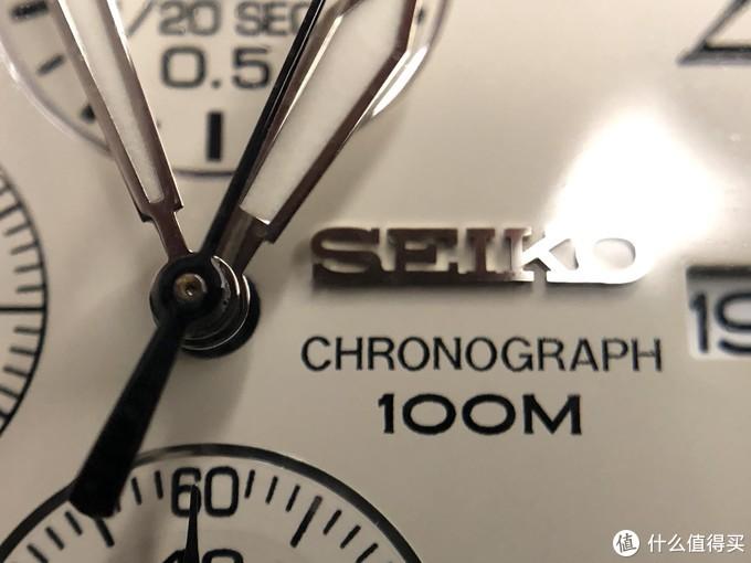 CHRONOGRAPH(计时)和100M标识