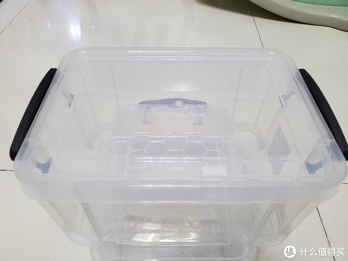 天猫30元买两个的禧天龙6639透明收纳箱4.2L 开箱