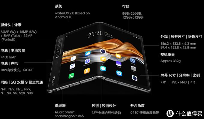 """可承受180万次""""无缝""""折叠,柔宇科技推出新一代5G折叠屏手机FlexPai 2"""