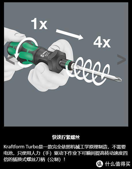 "Wera 新""玩具"" 826 T Kraftform Turbo4倍速螺丝刀柄"