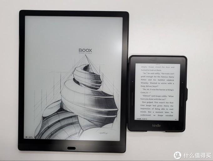 左:Max Lumi. 右:Kindle Voyage