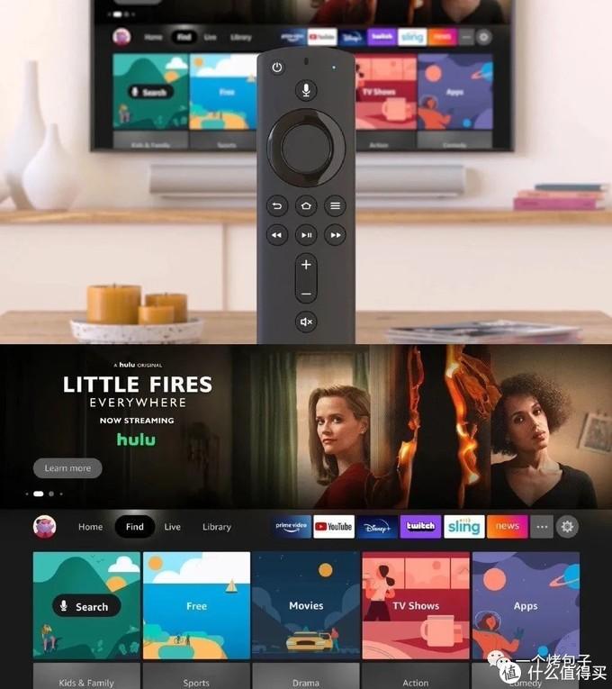 全新Fire TV的UI。网络图片,侵删。
