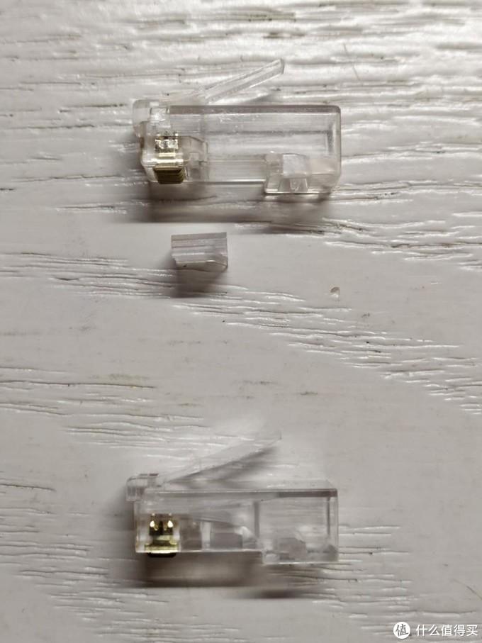两种六类非屏蔽水晶头