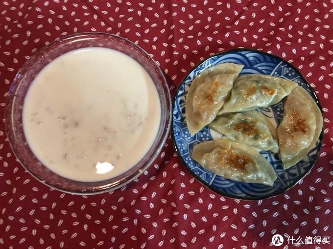 煎饺+杂粮粥