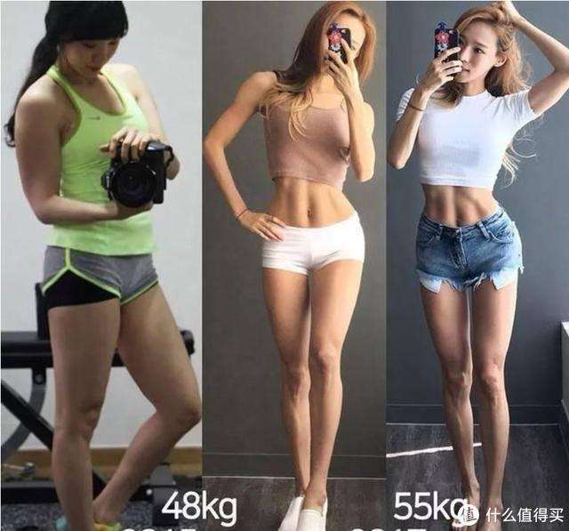 不同体脂下的体型对比