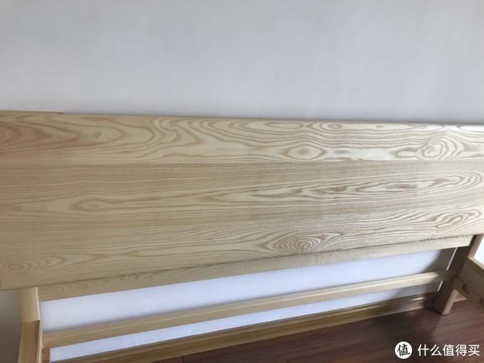 白蜡木3拼床头,花纹呈现较为完整