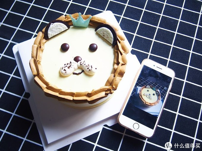 给老妈做的狮子生日蛋糕哈~