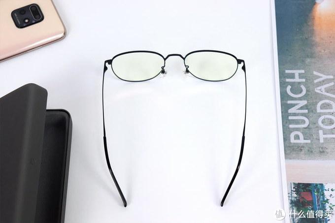 """米家""""钛轻盈""""防蓝光眼镜体验:阻隔蓝光,高投射,眼镜整重15.5g"""