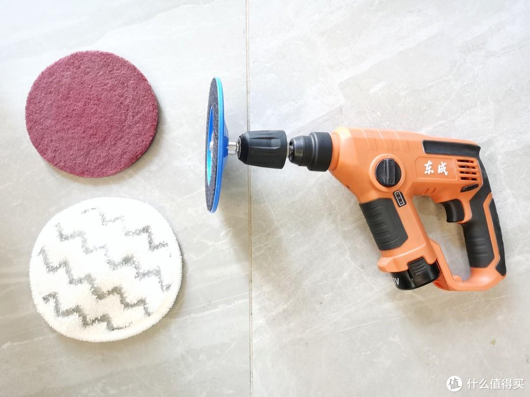 洗地,去除不干胶痕迹,以及给大理石打蜡
