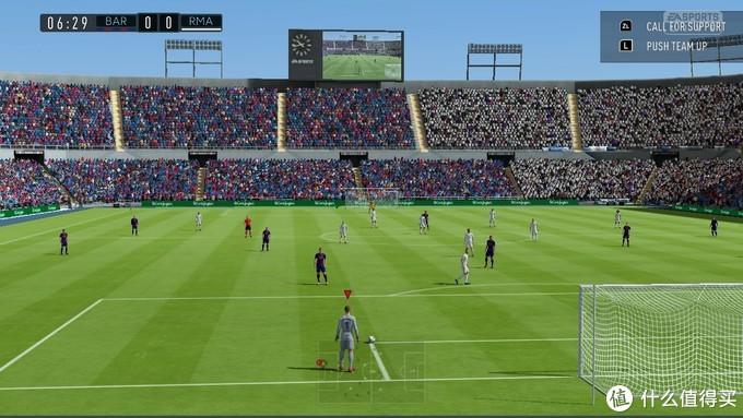FIFA21(图上)与FIFA20(图下)的游戏画面对比