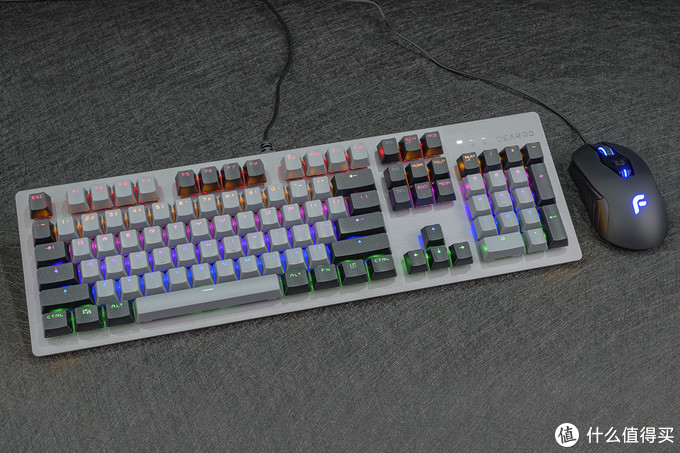 玩转你的色彩,104键全键可编程,迪摩F2女妖机械键盘