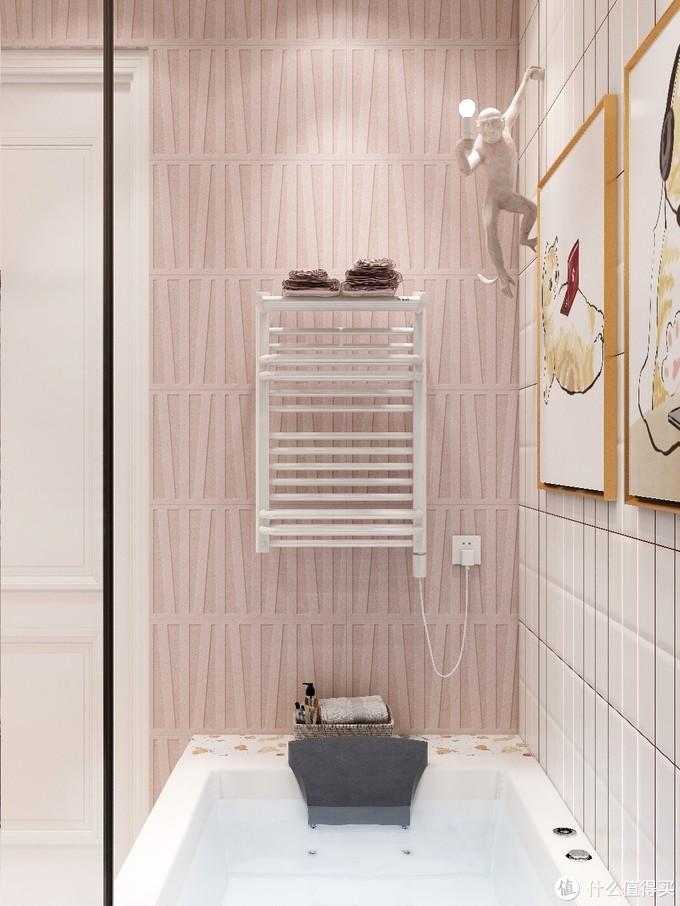 粉色北欧风浴室|走进浪漫的的童话世界🌹