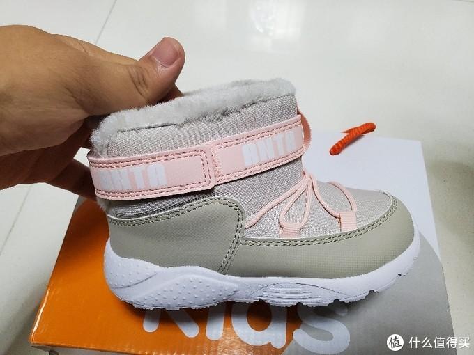 唯品会39元买的 安踏 高帮保暖棉靴款休闲棉鞋童鞋 开箱