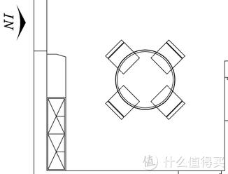 △ 入户+餐厅平面图