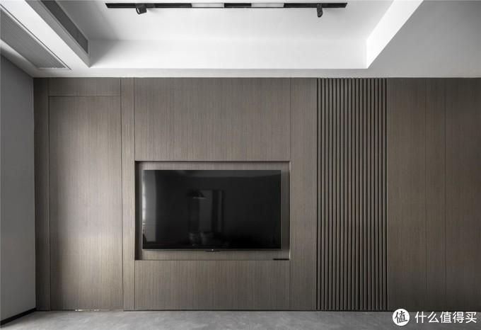 118㎡现代简约三居室,半开放式厨房+无电视柜设计,4㎡卫生间竟能干湿分离!
