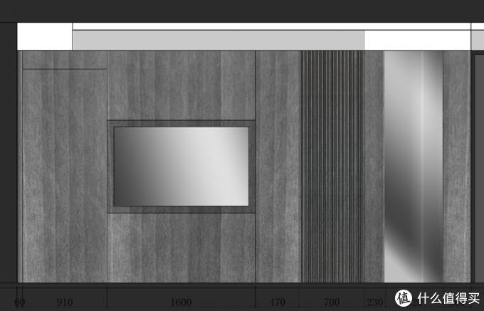 △ 背景墙是设计师设计,定制商家制作