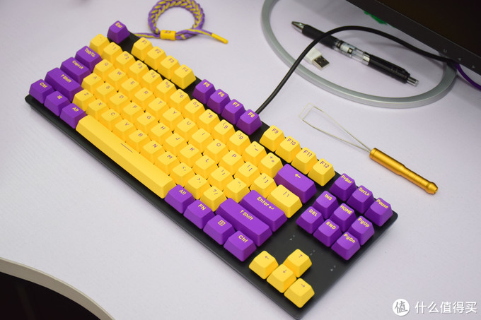 爷青回!桌面从此多了一把紫金机械键盘——达尔优A87机械键盘晒物