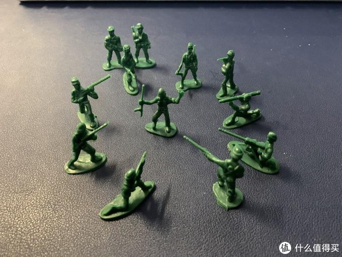爷青回!KIDNOAM 军人小兵人(100个)军事塑料模型,火速晒单!