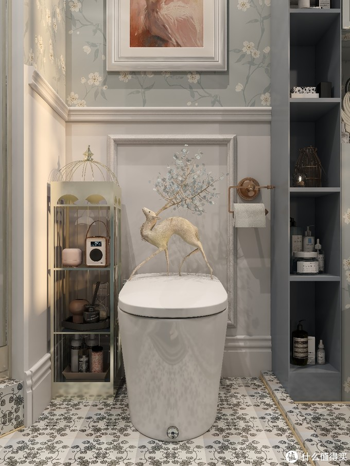 🍃复古蓝色卫生间|浪漫的欧式华丽✨