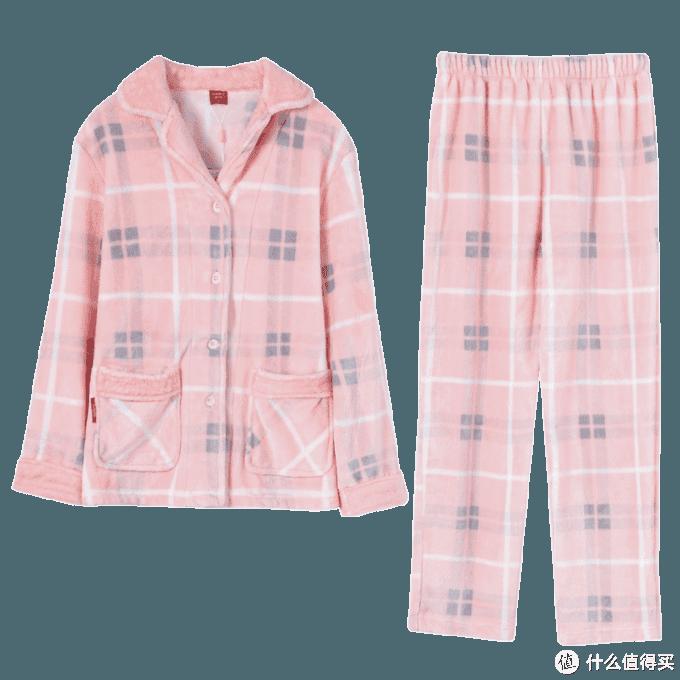 雪仙丽珊瑚绒三层加厚夹棉情侣家居服,保暖又时尚