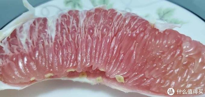 (放进美的545升冰箱保鲜24h后的红柚实拍图)