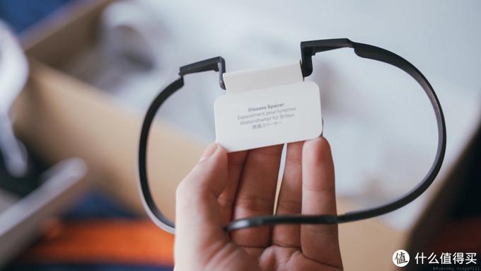 眼镜垫片 加在脸部护垫之间 可以让眼镜塞得进去