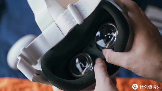 IPD瞳距调节 这一代没有单独的IPD按钮 直接三档硬掰调节