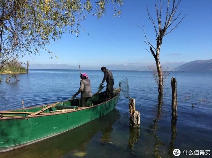 洱海白族捕鱼人