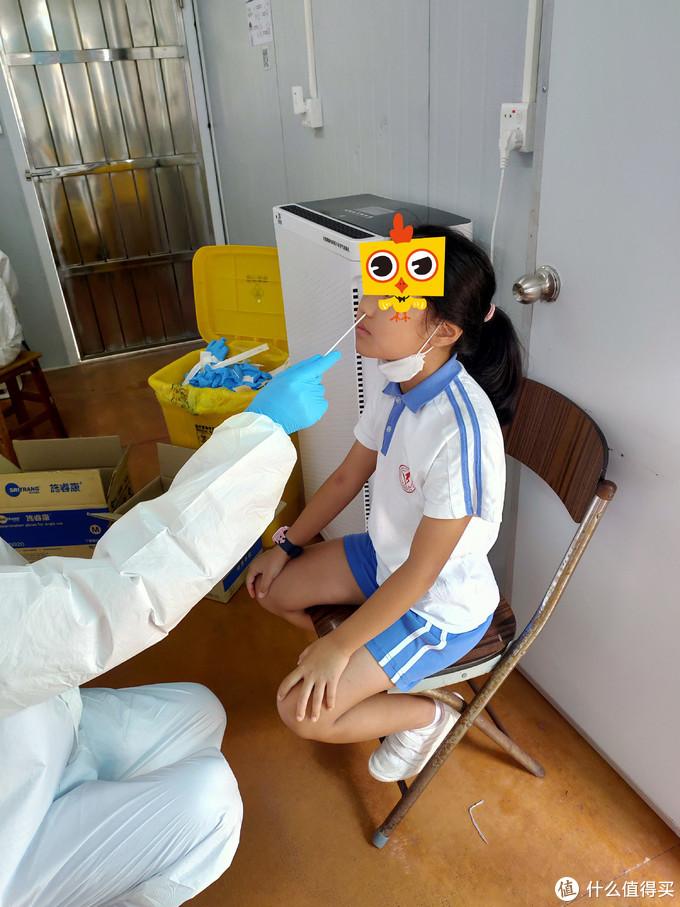 亲身经历,女儿做核酸检测小记