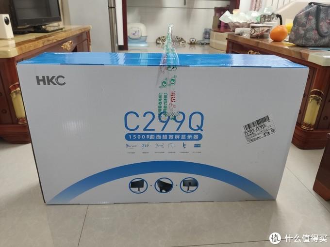 HKC29寸带鱼屏,这可能是这套配置里最拉低档次的一个了,主要我这不会玩啥游戏,有个凑合使着就行,物美价廉