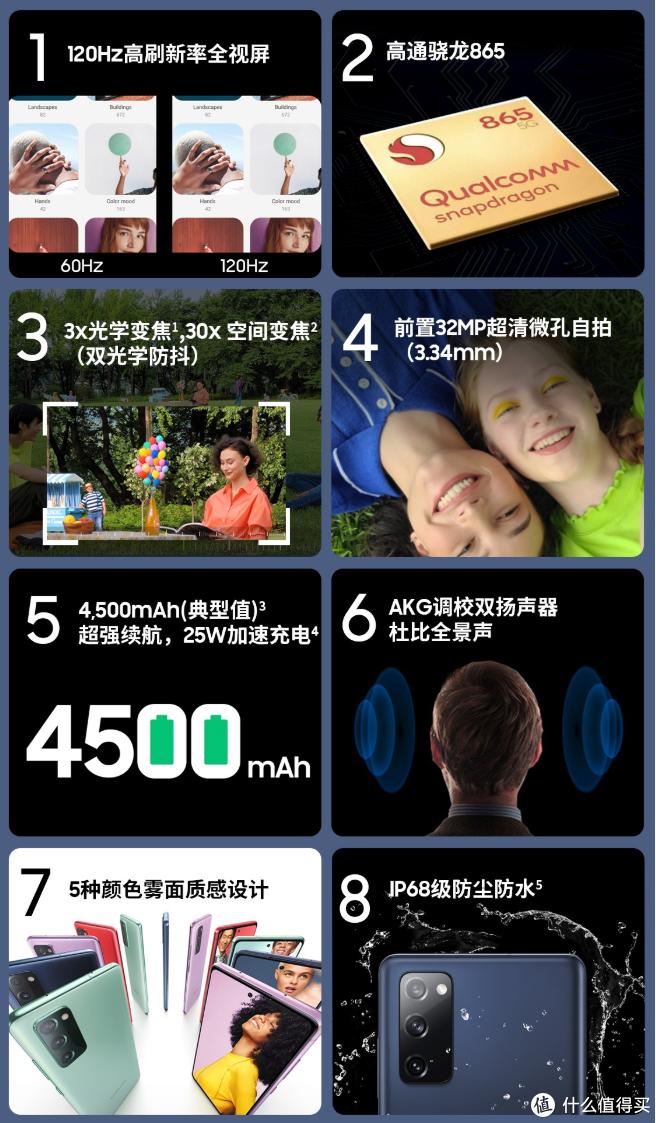 三星Galaxy S20 FE 5G上架预售,骁龙865、120Hz高刷直屏