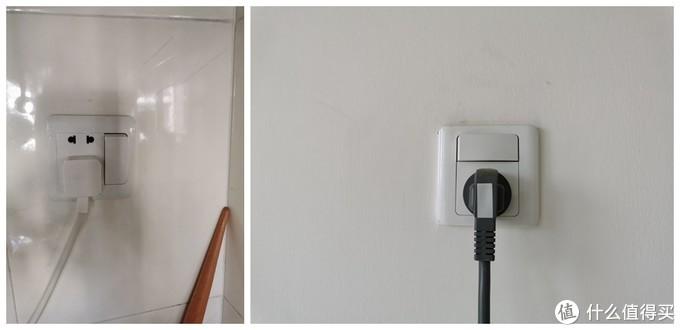 左:厨房插座  右:空调16A插座