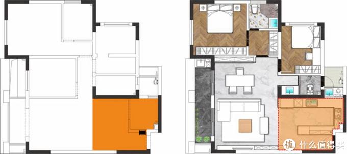 户型改造:弱化餐厨区,一家三口的空间还能这样玩