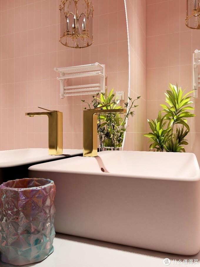 少女心🍑蜜桃粉浴室🛀|超大浴室镜✨